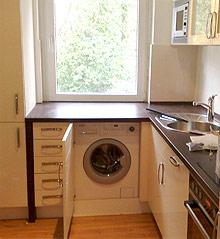 k chenblock mit waschmaschine tische f r die k che. Black Bedroom Furniture Sets. Home Design Ideas